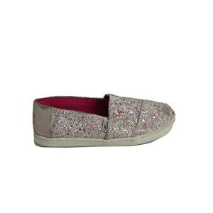 Toms Girl Classic Candy Cane Glitter Shoes 4.5